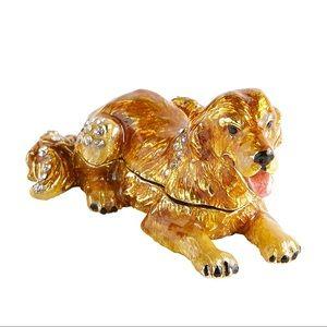 Pier 1 Cloisonné Golden Retriever Figurine